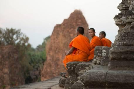 Siem Reap Temple Sunset Buddhist Monks