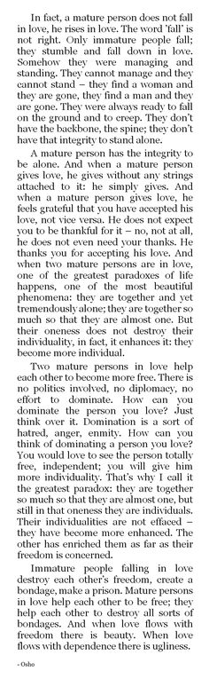 osho love quote
